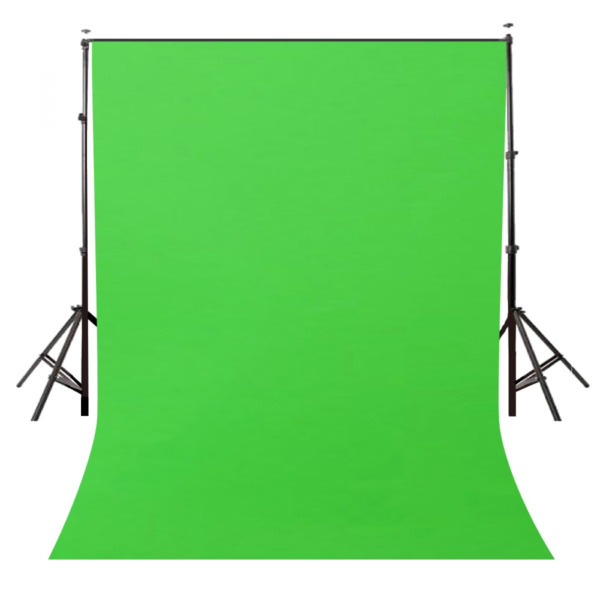 Photography Green Background Screen Portable Stand Photo Backdrop Crossbar 5X7Ft $17.99