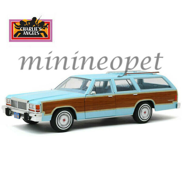 GREENLIGHT 19066 CHARLIES ANGELS 1979 FORD LTD COUNTRY SQUIRE WAGON 118 L BLUE