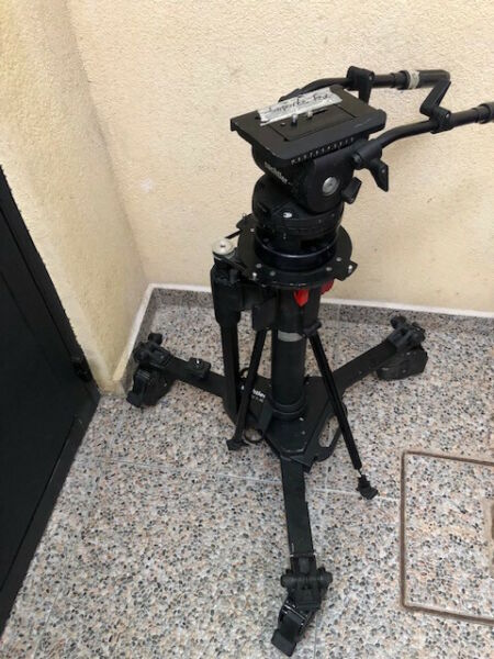 Sachtler Fluid Head Video 25P With Dolly Combi 1-40 and Air Pedestal