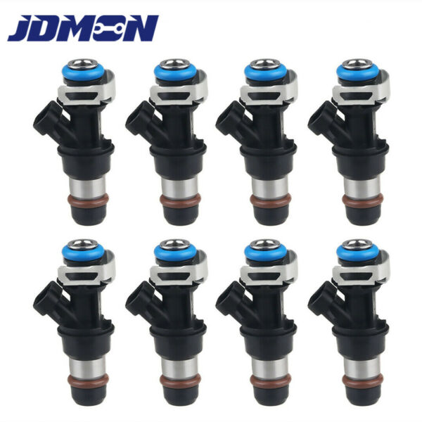 8x Fuel Injectors 2 Hole Fit For 99 07 Chevy GMC Truck 4.8L 5.3L 6.0L 25317628