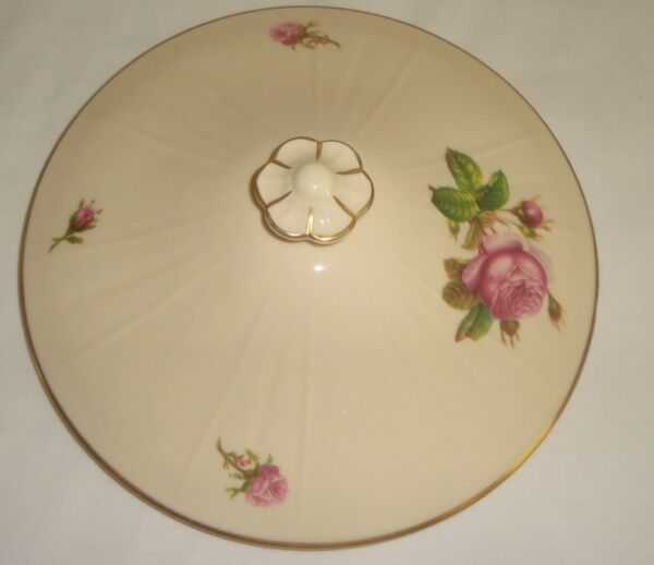 Syracuse Victoria Federal Replacement Lid for Covered Serving Bowl Pink Rose