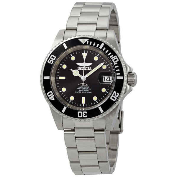 Invicta Pro Diver Automatic Black Sunray Dial Stainless Steel Men#x27;s Watch 24760 $92.00