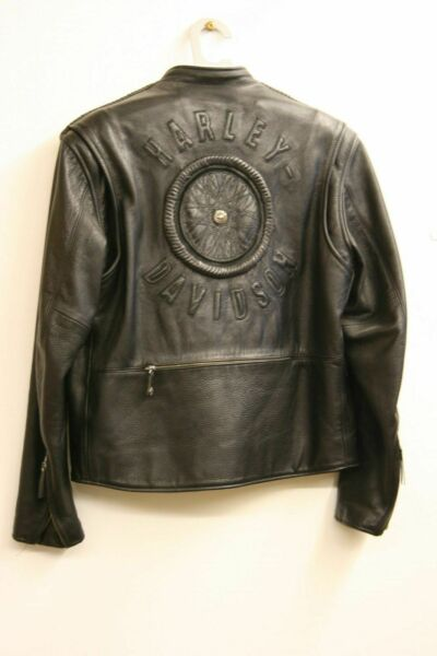 Willie G Signature Limited Edition Wheel Harley Davidson Leather Jacket Mens L