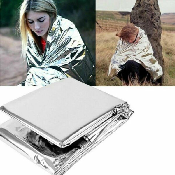 8 Pack Emergency BLANKET Thermal Survival Safety Insulating Mylar Heat 82quot; X52quot;