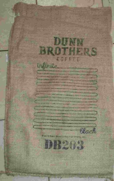 Large Infinite Coffee Bean Burlap Bag Sack Wall Art 30quot; X 17quot;