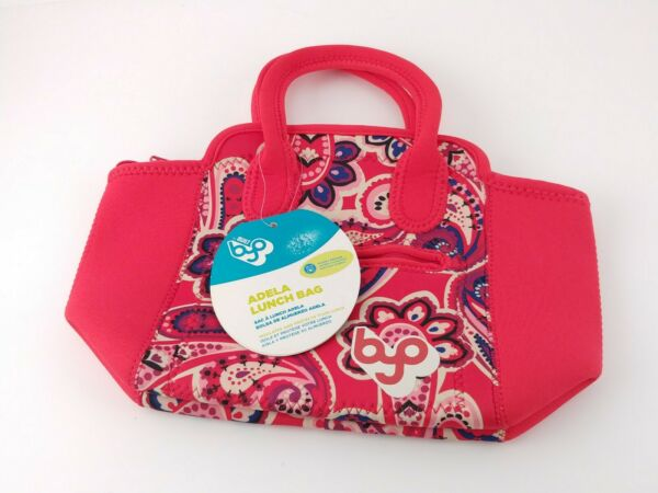 BYO Built Adela Lunch Bag red paisley New With Tags