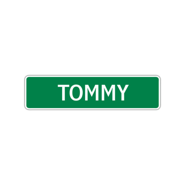 Tommy Boys Name Letter Printed Label Wall Art Decor Novelty Aluminum Metal Sign $14.99