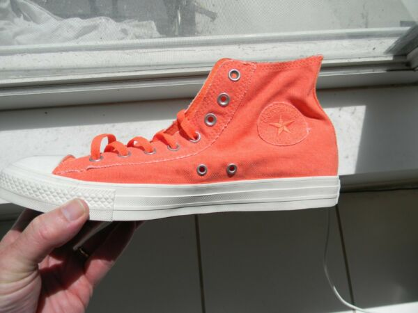 Converse MEN'S CHUCK TAYLOR ALL STAR TURF ORANGE   164097F SIZE 10 new no Box