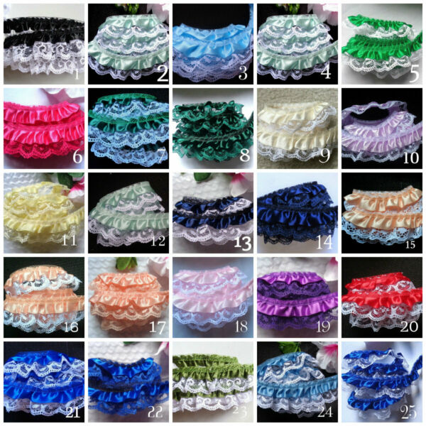 Ruffle Lace Trim 1quot; selling by the yard select color