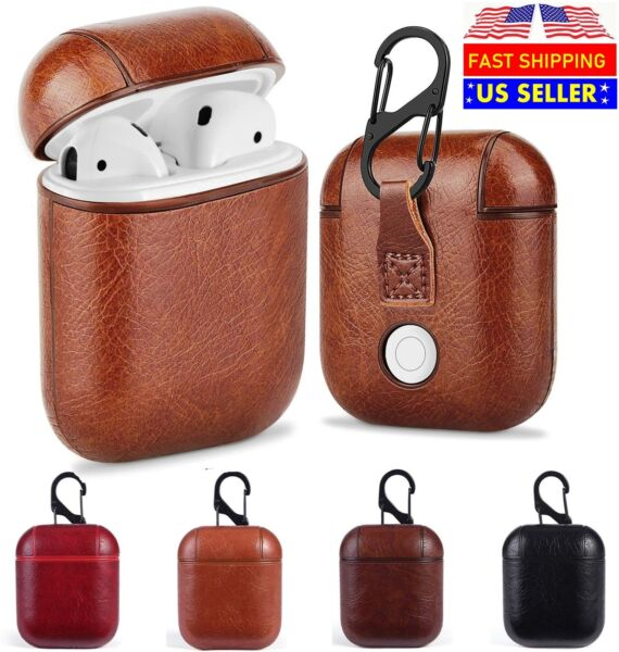 Luxury For AirPods Case Leather Protective Cover Skin For Apple New AirPod 2 1 $10.95
