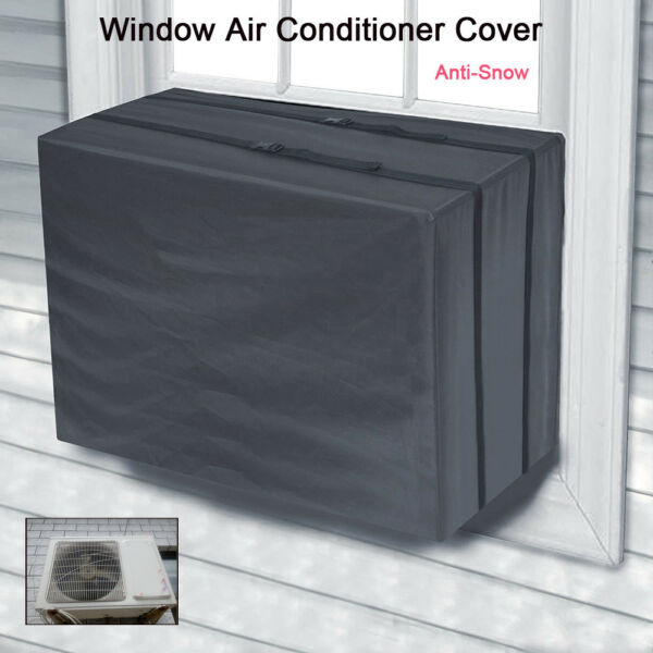 Window Conditioner Cover Protect For Air Conditioner Outdoor Unit Anti-Snow _A