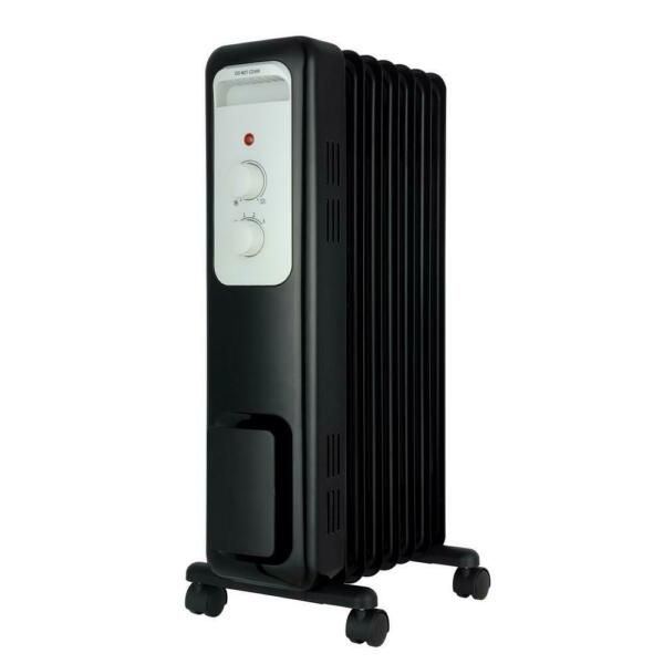 1500-Watt Oil-Filled Radiant Electric Space Heater with Thermostat