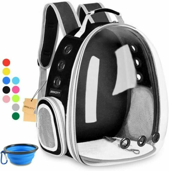 BEIKOTT Cat Backpack Carriers Pet Bubble Backpack Carriers for Cats Puppy Dogs $36.99