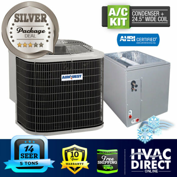 5 Ton 14 SEER AirQuest Heil by Carrier Air Conditioning Condenser 24.5quot; W Coil $2325.00