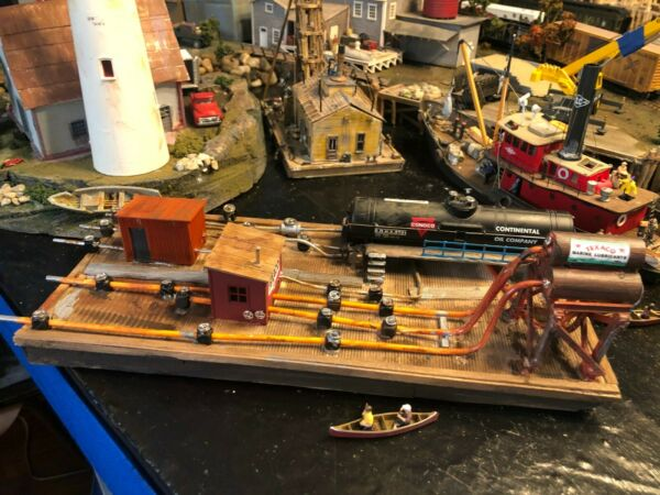 ho oil fuel transfer barge scratch built model layout ready