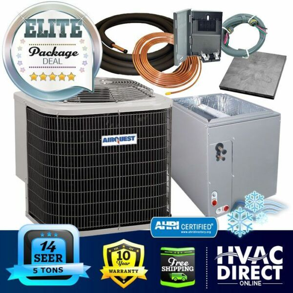 5 Ton 14 SEER AirQuest Heil by Carrier ACCoil System Line Set Install Kit $2376.00