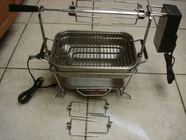 Farberware Model #441 Mini Compact Open Hearth Electric Indoor GrillRotisserie