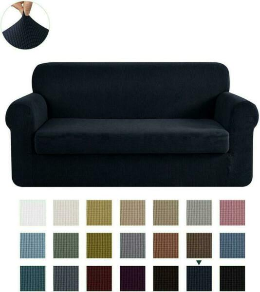 CHUN YI Stretch Sofa Slipcover 2 Piece Couch Cover Furniture Protector 3 Seater $45.99