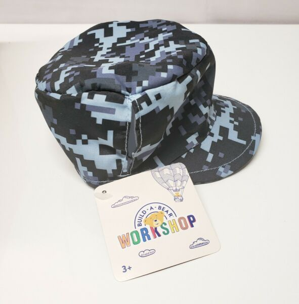 Build A Bear Navy Digital Camo Hat NWT