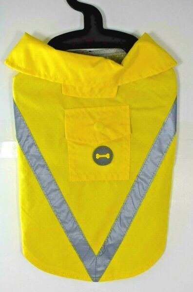 Bailey amp; Bella Companion Couture Yellow Safety Rain Coat Pet Dog Extra Small $11.95