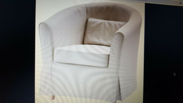 IKEA Tullsta Armchair Cover Nordvalla Beige Twill NEW 3 Piece Set Rare Retired