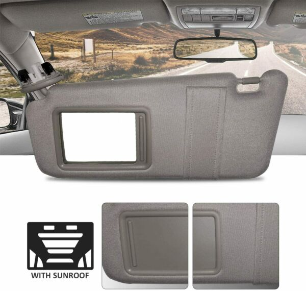 New Driver Side Gray Windshield Sun Visor with Sunroof for Camry 2007-2011 $22.98