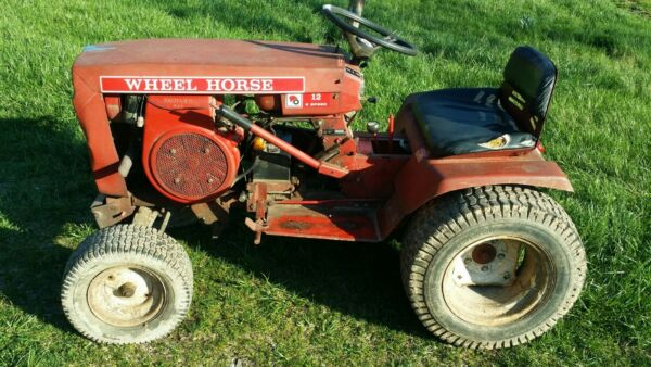 Operational 1973 Wheel Horse Tractor 12 HP 8 Speed with deck and snow blade