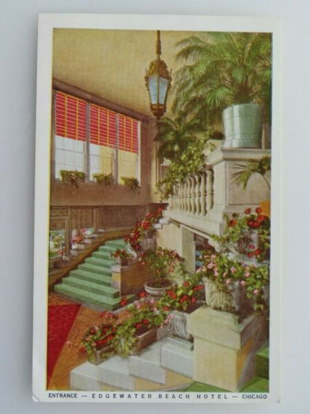 Vintage Postcard Edgewater Beach Hotel Chicago IL A2773