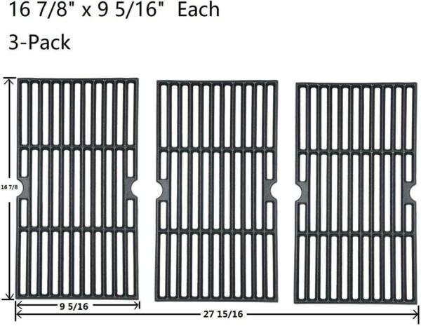 GasSaf Cast Iron Grill Grates for Charbroil 463420508 463420509 463420511 46