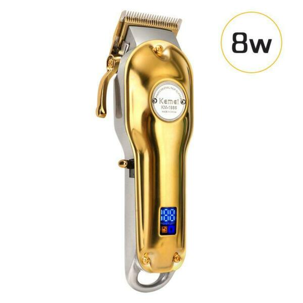 Kemei 1986 All metal Professional Cordless Hair Clipper Trimmer Gold Color $39.99