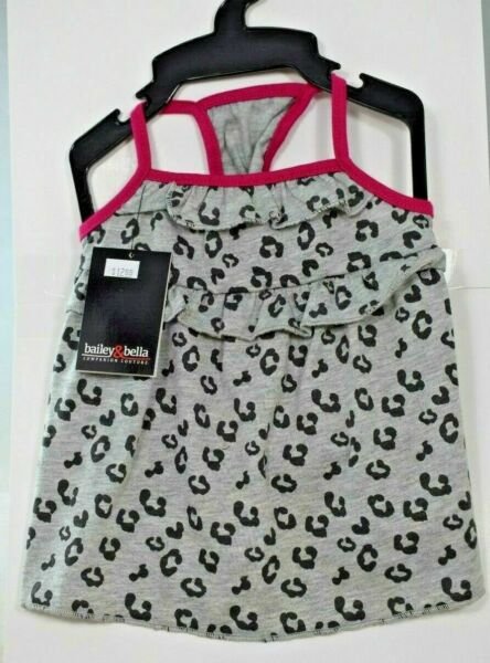 Bailey amp; Bella Couture Gray Leopard Print Shirt Pet Dog Extra Small XS $8.95