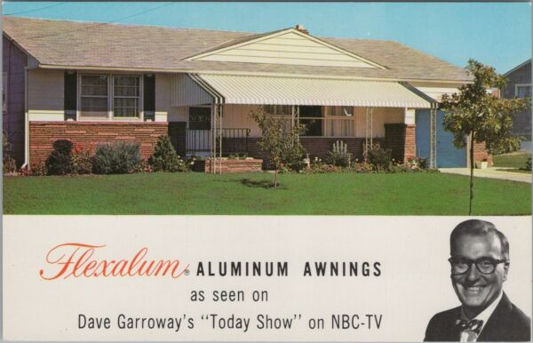 Advertising Postcard Flexalum Aluminum Awnings Dave Garroway Today Show NBC