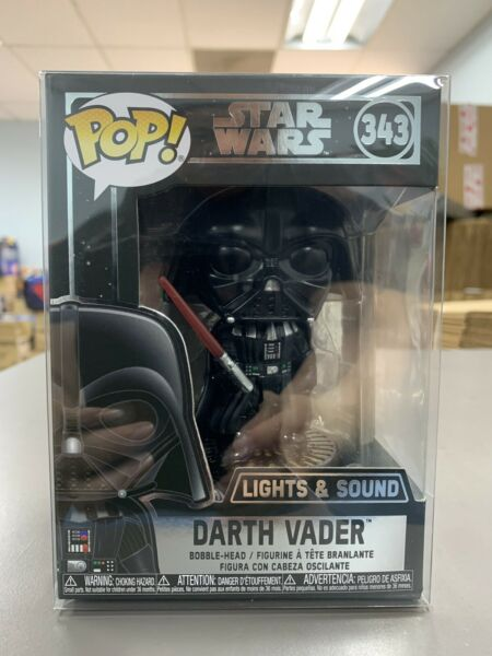 Funko Pop Star Wars Darth Vader Electronic #343 w Protector IN STOCK