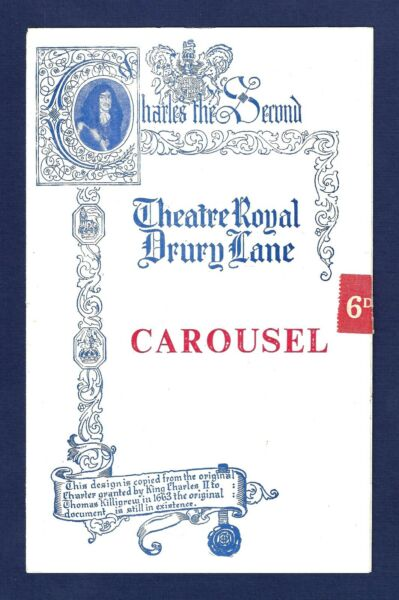 Stephen Douglass quot;CAROUSELquot; Rodgers amp; Hammerstein 1950 London Playbill