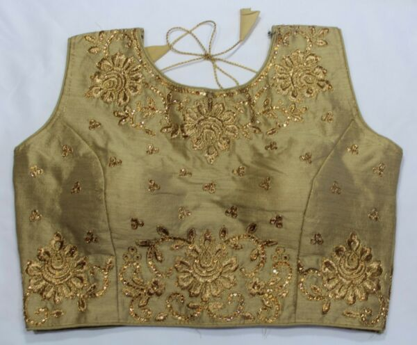 Readymade Designer Stitched Indian Saree Blouse for Women Size 34 Free Ship $21.99