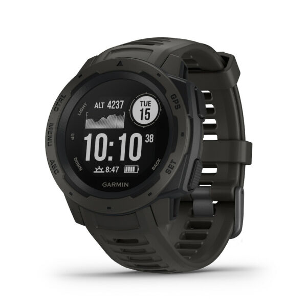 Garmin Instinct Rugged Outdoor GPS Smartwatch - Graphite Watch