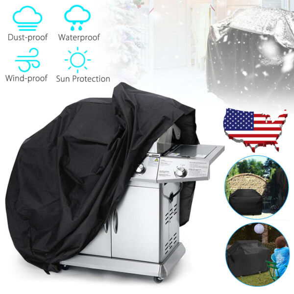 BBQ Gas Grill Cover 57 Inch Barbecue Waterproof Outdoor Heavy Duty Protection $12.95