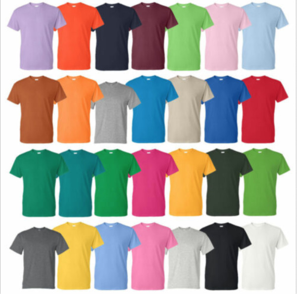 Gildan Cotton T Shirts 5.3oz Blank Solid Short Sleeve Tee S 2XL Style# 5000