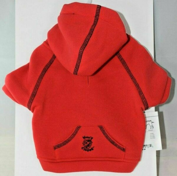 Max#x27;s Closet Solid Red Hoodie Jacket Pet Dog Extra Small XS $14.90