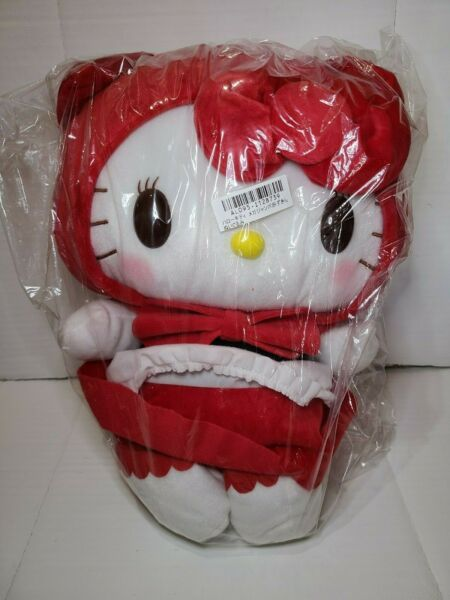 NWT Japan Sanrio Plush Hello Kitty Red Riding Hood Costume 15quot;