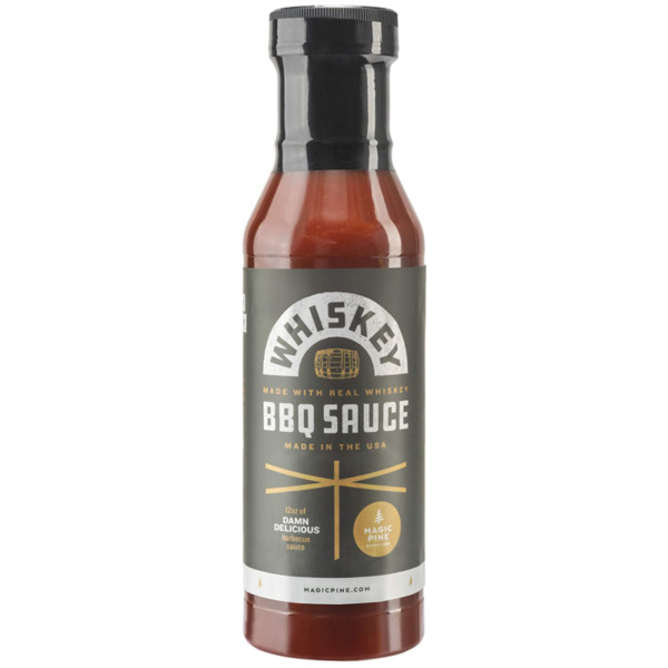 WHISKEY BBQ SAUCE Made in USA Durable 12oz Plastic Bottle Great for Grilli