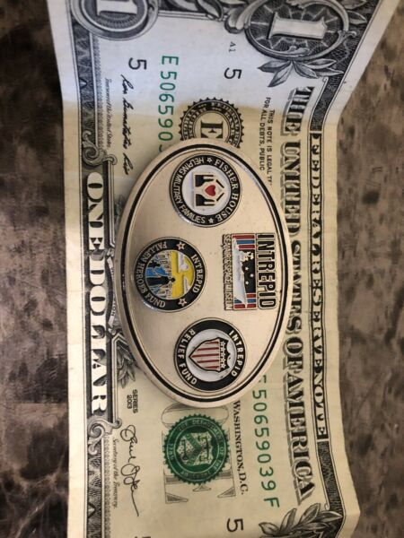 Intrepid Fisher House fallen heroes fund challenge coin $15.00