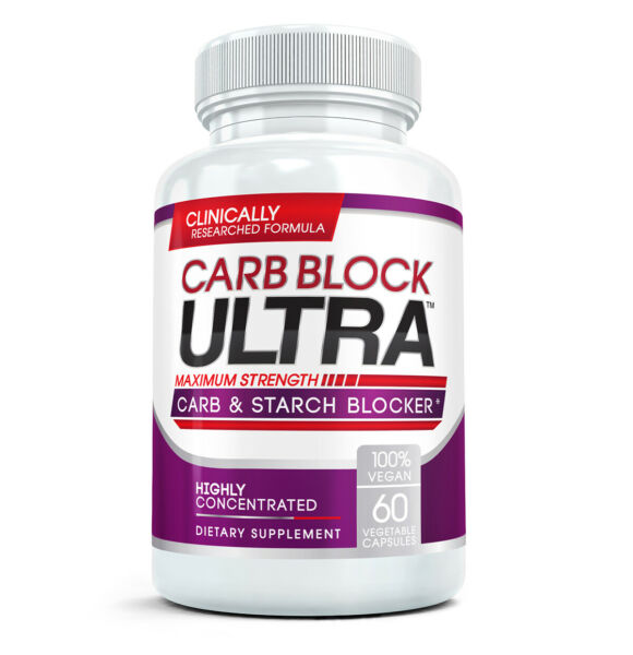 Carb Block Ultra Highly Concentrated Carbohydrates amp; Starch Blocker 60 Caps $25.63