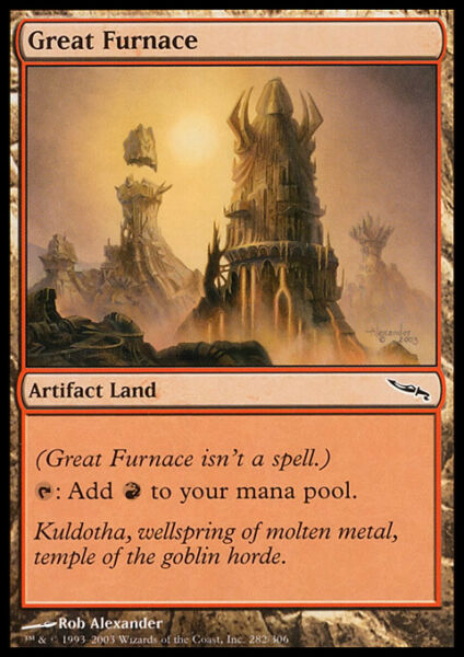 Furnace X 4 Mirrodin Excellent Near Mint RG 4RCards $4.95
