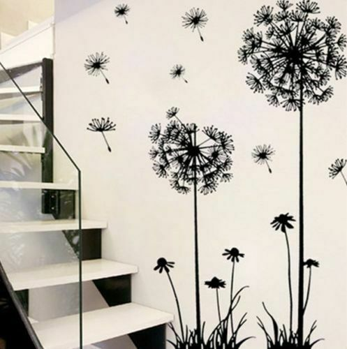 Dandelion Flowers 3D Wall Stickers Vinyl Art Mural Decal Living Room Home Decor