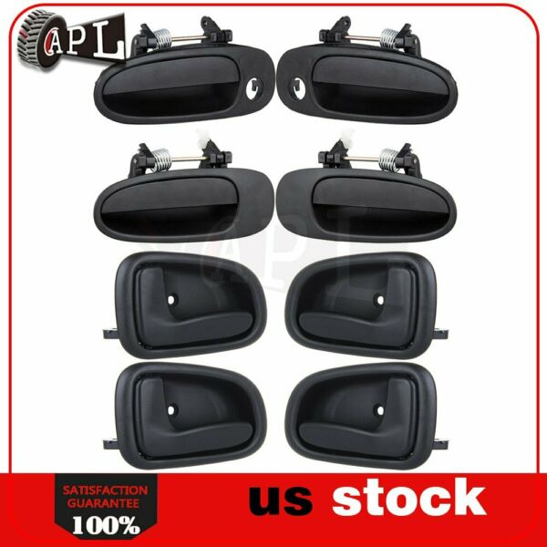 Door Handles fits for 93-97 Toyota Corolla Geo Prizm Outside & Inside Set of 8