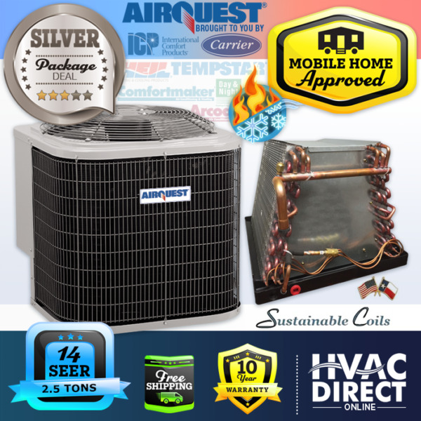 2.5 Ton 14 SEER Mobile Home AirQuest Heil by Carrier Heat Pump A C amp; Coil $1800.00