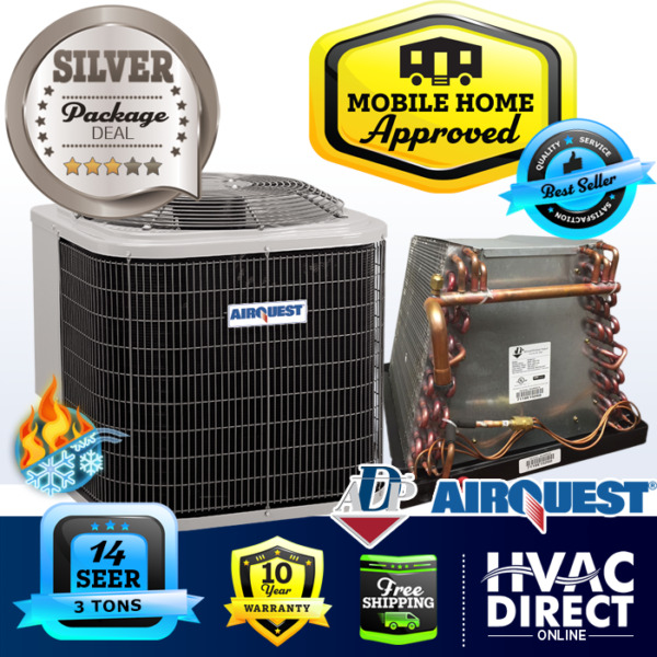 3 Ton 14 SEER Mobile Home AirQuest Heil by Carrier Heat Pump A C amp; Coil $1950.00