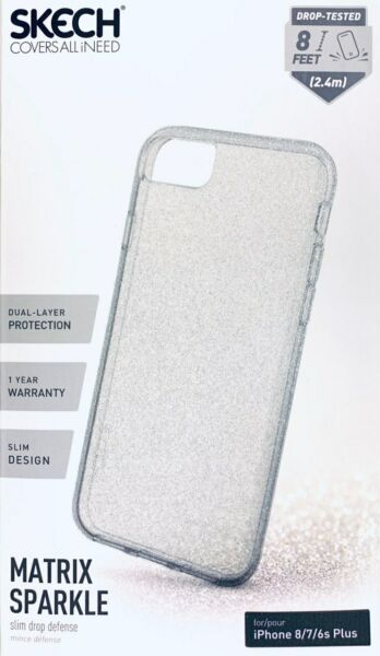 SKECH Matrix Sparkle ClearGlitter Military For iPhone 8 7 6s Plus 5.5quot; #724