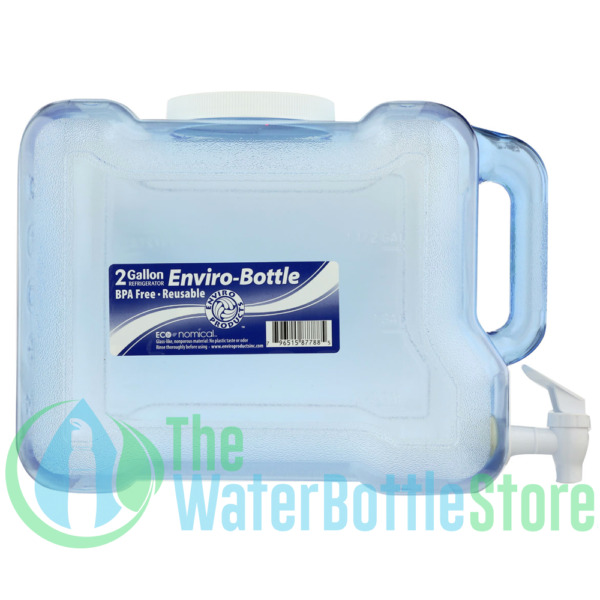 2 Gallon BpA Free Refrigerator Container Water Bottle Jug w Tap New Wave Enviro